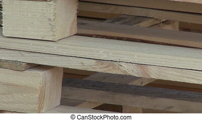 building wooden pallet in work place