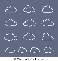 Cloud shapes collection