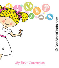 Girl First Communion