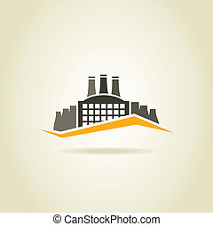Factory building in the industry