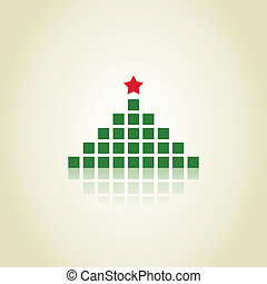 Pine - Christmas tree made of green squares
