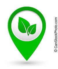 green leaf icon - abstract green leaf icon on white...