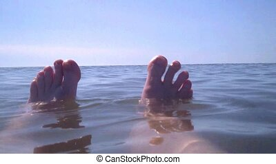 Bathing Feet in the North Sea