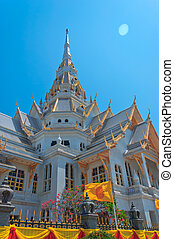 Top part of Thai style architecture at Thailand