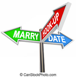 Marry Date Hook Up One Night Stand Dating Choice Signs -...