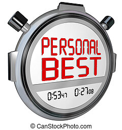 Personal Best Stopwatch Timer Race Record Speed Win Game -...