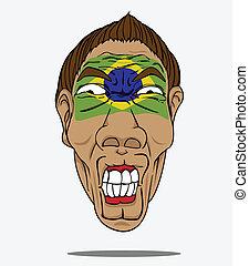 football fan from Brazil