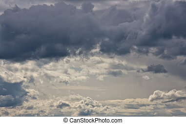 Rain Clouds - This image shows storm clouds just before the...