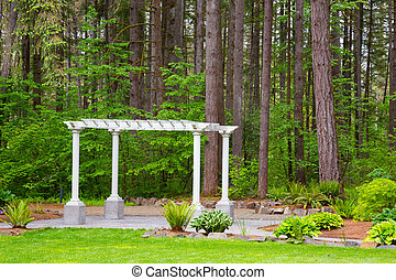 Wedding Pergola and Trees