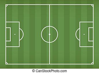 Soccer / football field, vector