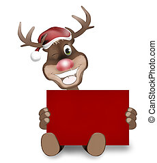 Rudolph Red Nose Happy Christmas Design - Rudolph Red Nose...