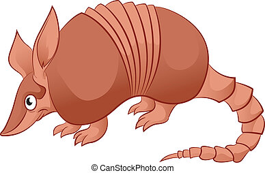 Armadillo - Vector image of an cartoon smiling Armadillo