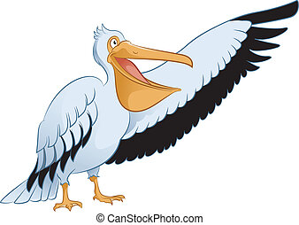 Pelican - Vector image of an cartoon showing Pelican