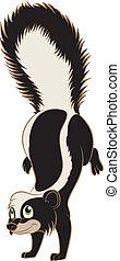 Cartoon Skunk - Vector image of a Cartoon smiling Skunk