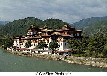 Bhutan, Punakha - Bhutan, Punakha Dzong aka Punthang Dechen...
