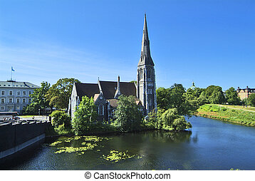 Denmark - Copenhagen - Denmark, church St. Alban in...