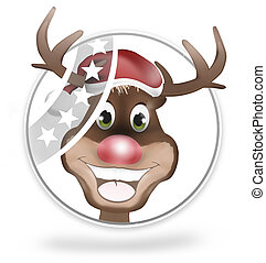 Paws Rudolf Happy Smile Christmas Design Graphic - Paws...