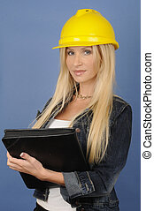 Construction Woman - Working constuction woman