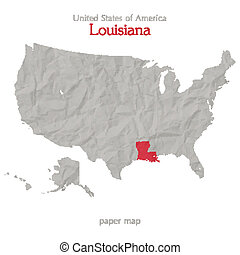 louisiana - United States of America map and Louisiana...