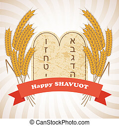 Illustration of Shavuot holiday - Shavuot - Illustration of...