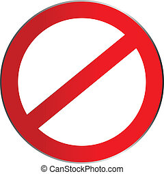 Interdiction sign for your design icon vector