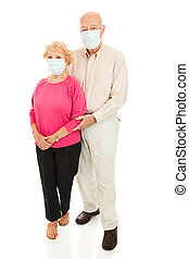 Epidemic - Senior Couple Full Body - Worried senior couple...