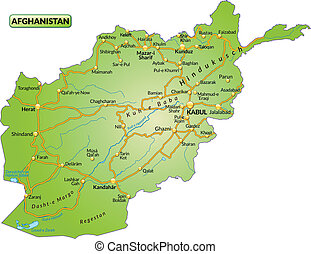 Map of Afghanistan with highways