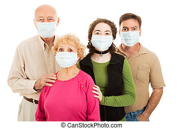 Facing an Epidemic - Family - elderly parents, their adult...