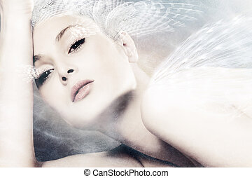 fantasy woman - beautiful fantasy woman portrait composite...