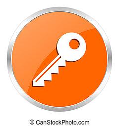key orange glossy icon