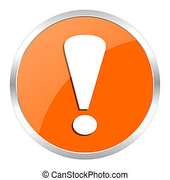 exclamation sign - orange web button