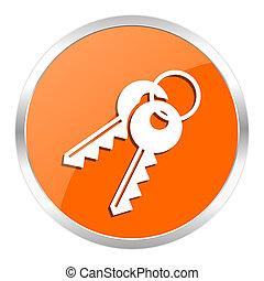 keys orange glossy icon