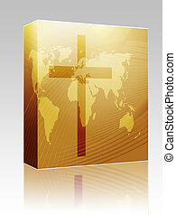 Christian cross box package - Software package box Christian...