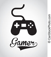 Videogame design over gray background, vector illustration