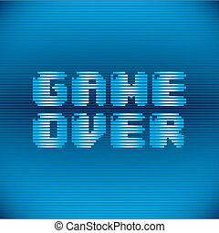 Videogame design over blue background, vector illustration