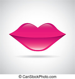 lips design over white background, vector illustration