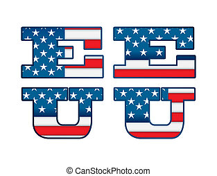 USA design - USA design over white background, vector...