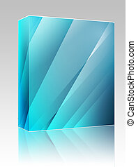 Angular crystal abstract design box package - Software...