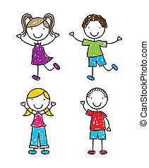 Kids design over white background, vector illustration