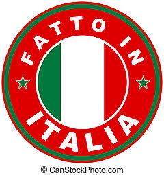 fatto in italia - very big size fatto in italia label made...