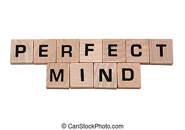 Phrase perfect mind made with tiles - Phrase perfect mind...