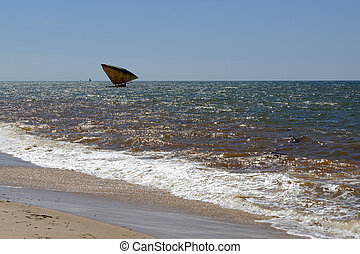 Pirogue of Madagascar - Traditional pirogue of Madagascar at...