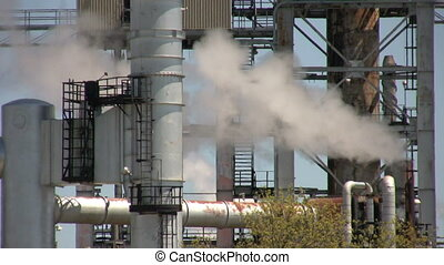 smoke - footage of close up of oil refinery