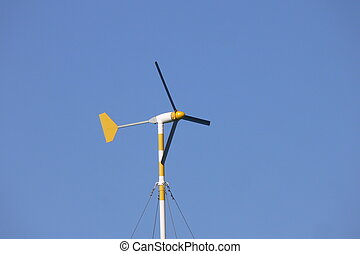 wind power turbine - windmill on small scale