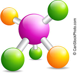 Molecule icon isolated on white