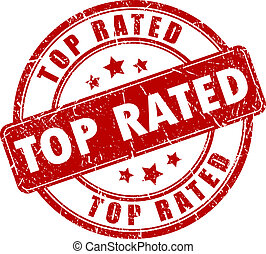 Top rated stamp - Top rated vector stamp