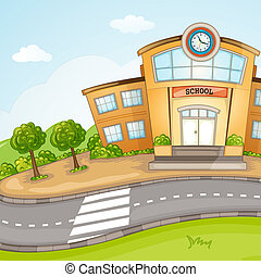 School Building. - Illustration of School Building.