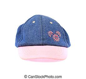 peaked cap isolated on white background