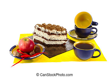 Preview cup cake with candy and apple - a Preview cup cake...