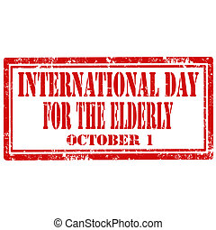 International Day For The Elderly-stamp